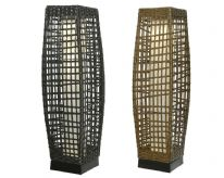 Lumineo LED Solar Brown Wicker Lantern - 68cm